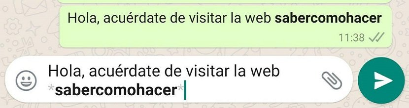 Cómo usar negritas en WhatsApp