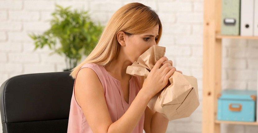 Respirar en una bolsa de papel