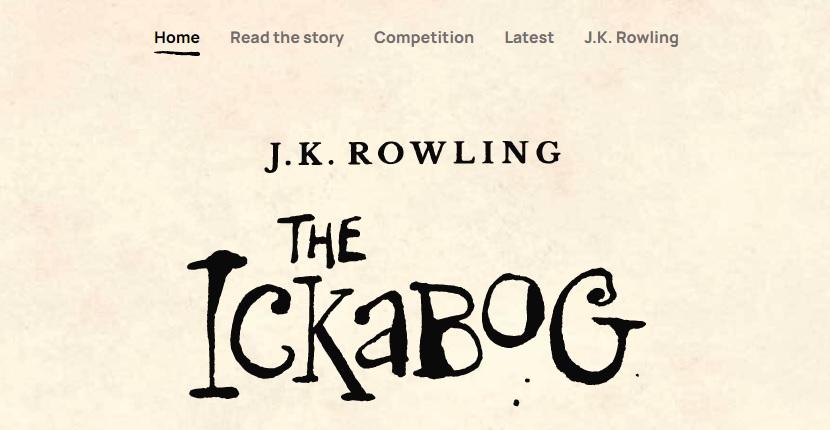 Imagen de la web del libro The Ickabog