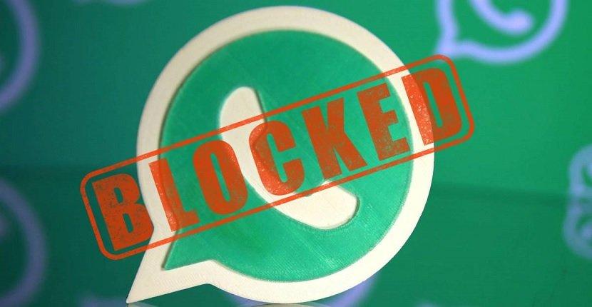 Contacto bloqueado en WhatsApp