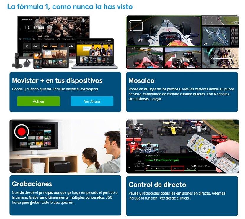 Formula Uno en Movistar