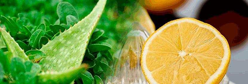 Té de aloe vera con limón