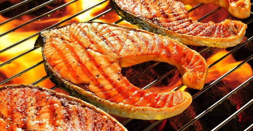 Imagen de parrillada de pescado