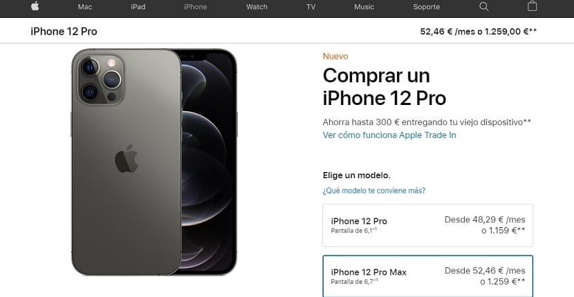 Cómprar iPhone 12 financiado