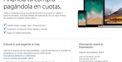 Financia tu compra con Apple